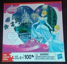 "Puzzle-Hasbro Disney Princess Heart Shaped of Cinderella-100 Pcs-13""x13"" *NEW*.*"