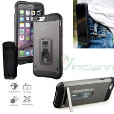 Custodia Armor-X CX-Mi6-GM Grigio per iPhone 6 6S clip cintura stand cover