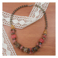 "19"" Natural Stone Necklace Mixed colour Pink Quartz Gift Fashion Jem NewAge 189"