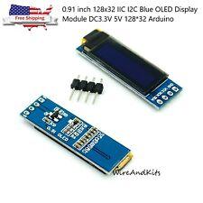 0.91 inch 128x32 IIC I2C Blue OLED Display Module DC3.3V 5V 128*32 Arduino
