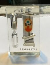 """Rolls Royce Airwork Airlines 3"""" Lucite sand egg timer"""