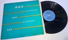 A.G.E. Tell Everybody VINYL LP Record Album 1986 BLACK GOSPEL Sew SEWLP 12