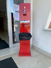 Column Floor Lamp Port Dispenser Gel Sanitizing Gloves And Basket, Colorful