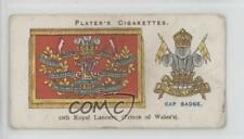 1924 Player's Drum Banners & Cap Badges Tobacco Base #16 12th Royal Lancers 1t5
