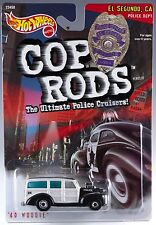 Hot Wheels Cop Rods '40 Woodie El Segundo, CA Police Cruiser 1/64 MOC 1999