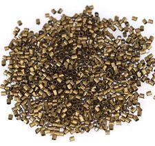 500/1000pcs Wholesale Silver/Gold/Black/Bronze/Copper Tube Crimp Beads 1.5mm 2mm