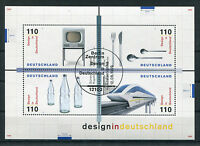 Bund Block 50 gestempelt ESST Bonn o. Berlin BRD 2068 -2071 Design Deutschland
