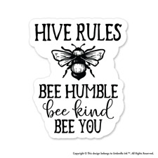Hive Rules Nature Sticker Earth Wild Decal Car Vinyl