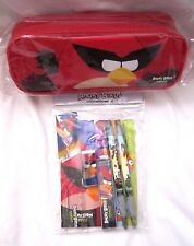 Angry Birds and Friends Red Pencil Case Pouch and Angry Birds Stationary Set-New