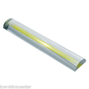 2X Bar Magnifier with Yellow Guide - 6 Inches for Low Vision Easy to See, Big