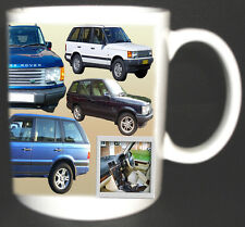 RANGE ROVER P38A CLASSIC CAR MUG LIMITED EDITION DESIGN 1994-2002 PERSONALISE