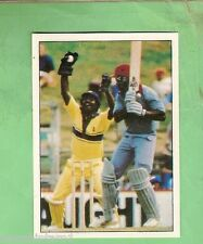 1985 SCANLENS CRICKET STICKER #70 WICKET KEEPER APPEAL, SRI LANKA