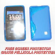 Pellicola + Custodia cover case WAVE BLU per LG T385 T375 T395 SMART COOKIE (B8)