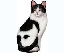 Fiddler's Elbow black white cat pellet fill doorstop 100% cotton silkscreen FE71