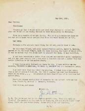 1936 letter to FORREST J ACKERMAN on death of sci-fi author DAVID R. DANIELS.