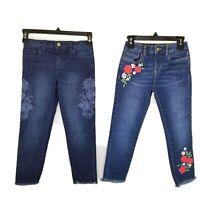 Lot of 4 Girl's Stretch Pocket Denim Blue Jeans Size 5-6 EUC