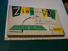 Vintage SCARCE toy/game: MARX ZING-A-POP complete in box w instructions 1950/60s