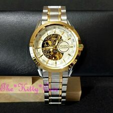 Automatic Mechanical Skeleton WindUp Sapphire High Bevel Mineral Steampunk Watch