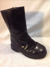 Girls Mormeloto Black Leather Boots Size 27