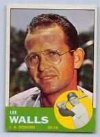 1963  LEE WALLS - Topps Baseball Card # 11 - LOS ANGELES DODGERS