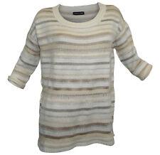 Kleidung & Accessoires Damenmode Pullover PATRIZIA DINI Gr 42 creme gestreift halbarm Pulli Streifen neu