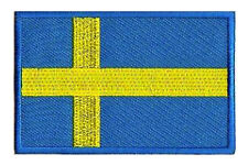 Patche écusson patch Suède Sweden 85 x 55 mm thermocollant