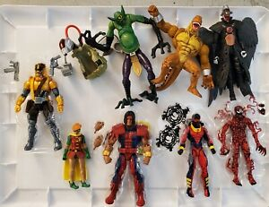 Marvel Legends DC MULTIVERSE loose figure lot OF 8 THUNDERBIRD CARNAGE MAVERICK