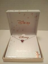 DISNEY CRYSTAL SILVER PLATED NECKLACE MINNIE MOUSE