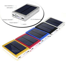 New 80000mAh Dual USB Portable Solar Battery Charger Power Bank For Cell Phone