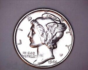1944 Mercury Head Silver Dime <> GEM/BU <> FSB - 621-1