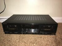 Sony TC-WR810 Stereo Dual Cassette Deck HX PRO ** FOR PARTS OR REPAIR **