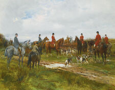 Hardy Heywood Gathering For The Hunt Print 11 x 14 #4982