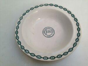 Vintage Ocean Steam Ship Company Rimmed Soup Plate