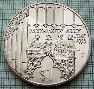 FIJI 2002 DOLLAR, QUEEN ELIZABETH II ACCESSION 50th ANNIV, WESTMINSTER ABBEY, BU