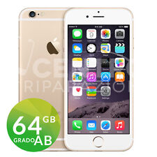 APPLE IPHONE 6 64GB GOLD ORO GRADO AB ORIGINALE RIGENERATO RICONDIZIONATO