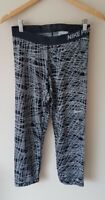 Nike Pro Womens Grey Patterned Gym Trousers Size M <CX6851
