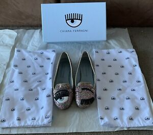 Genuine Chiara Ferragni Shoes - Multi Glitter - Pre Owned Size 36 - Box Dustbag