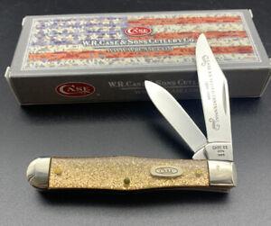 Case Centennial Knife GS225 1/2 Trapper Pocket Knife 1989 Goldstone