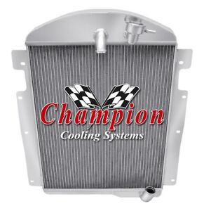 3 Row Aluminum Champion Radiator for 1937 Chevrolet GD L6 Engine