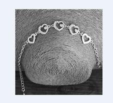 Süßes Herz Bettel Armband Strass Armkette silber  Metall NEU