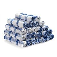 Vintage Blue Heat Resistant 100% Cotton Absorbent Tea Towel Dish Cleaning Cloth