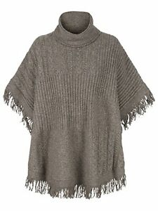 Fat Face NWT Womens Blythe Brown Poncho Size S