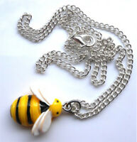 "Gorgeous handmade bumble bee necklace on 18"" chain with gift bag"