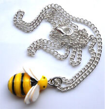 """Gorgeous handmade bumble bee necklace on 18"""" chain with gift bag"""
