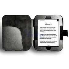 Black Leather Case Cover for Barnes & Noble NOOK 2 2nd Edition Simple Touch DA