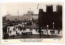 LL293 GB WEMBLEY EXHIBITION PPC Nigeria Gold Coast RP Postcard {samwells-covers}