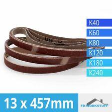 120 Stück Gewebe-Schleifbänder 13x457 Körnungen je 20x 40/60/80../240 Powerfeile