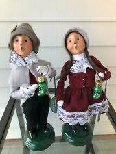 'Byers Choice Carolers Pickle Traditions Set of 2 Boy and Girl - Mint condition
