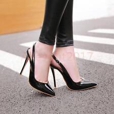 Spitzer Zeh Sexy Elegant Damenschuhe Lackleder High Heels Farbwahl Neu Gr.33-48