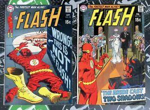 Flash #191 & 194 1969 Silver Age DC Comics Justice League JLA Green Lantern